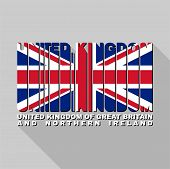 United Kingdom Flag Typography, T-shirt Graphics