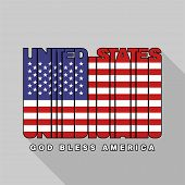 Usa Flag Typography, T-shirt Graphics