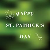 Typographic Saint Patrick's Day Background. Vector design greetings card or poster.