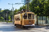 pic of tram  - Historical tram in Porto Portugal in a summer day - JPG
