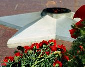 the eternal flame at the memorial of victory