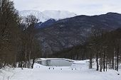 Lake in Rosa Khutor Alpine Resort