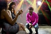 picture of soliciting  - pickup artists harrassing women at a nightclub - JPG