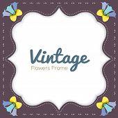 Vintage Flowers Border.