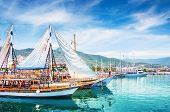 Tourist Boats In Port Of Alanya, Turkey