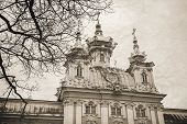 Church Of St Peter And Paul In Peterhof, Vintage Stylized