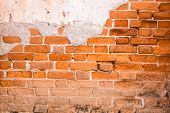 Orange Brick Background