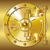 Gold Bank doors