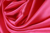 Red Silk Folded Rose