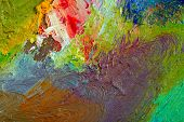 stock photo of paint palette  - macro artist - JPG
