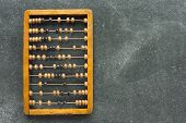 Abacus On Chalkboard