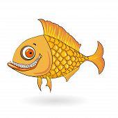 smiling cartoon fish