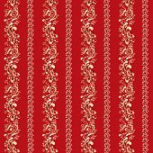 red indian ornament with vertical stripes