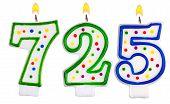 Candles Number Seven Hundred Twenty-five