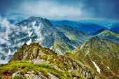 Fagaras Mountain Range In Romania