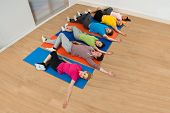 Multiethnic Group Of Happy People Exercising