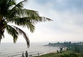 View On Danang City From Son Tra In Cloudy Day