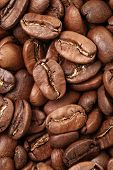 background of premium roasted coffee beans