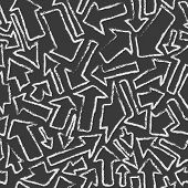 Seamless vector pattern of arrows.