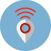 Map Pointer with Wi Fi Sign