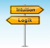 Intuition And Logic Signs (german Translation)