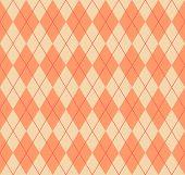 Seamless Pastel Orange Argyle Pattern