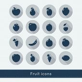 Set Of Fruit Icons.