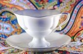 Beauty White Porcelain Cup With Saucer