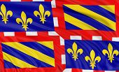 3D Burgundy Flag