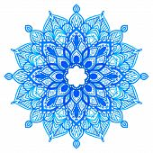 Watercolor Hand Drawn Mandala.