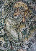 Byzantine mosaic  in Church of Hosios David
