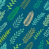 Seamless Pattern With Leaves.