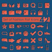 Set of fashion flat icons