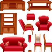 Set of furniture for a living-room