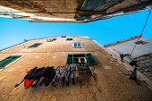 Ancient buildings in Split city centre. Croatia