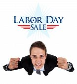 Businessman Labor Day Sale