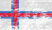 pic of faro  - Flag of Faroe Islands with old texture - JPG