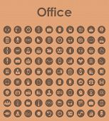Set of office simple icons