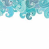 pic of aquamarine  - Hand drawn wavy modern background - JPG
