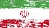 stock photo of tehran  - Flag of Iran with old texture - JPG