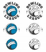Set Of Vector Bowling Labels And Badges.