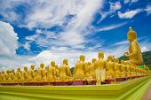 picture of buddha  - Golden Buddha at Buddha Memorial park Nakorn nayok Thailand - JPG