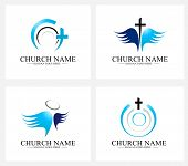 picture of church  - Church Logo Design Set - JPG