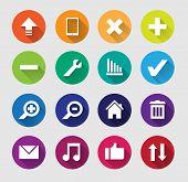 Set Of Flat Web Icon.