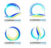 stock photo of logo  - Water Splash Logo - JPG