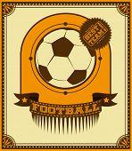Football Retro Poster.