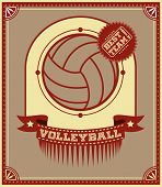 Volleyball Retro Poster