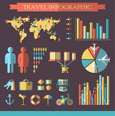 Travel Infographics With Icons