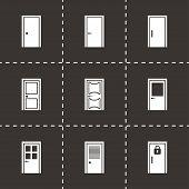 Vector door icon set