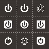 Vector shut down icon set